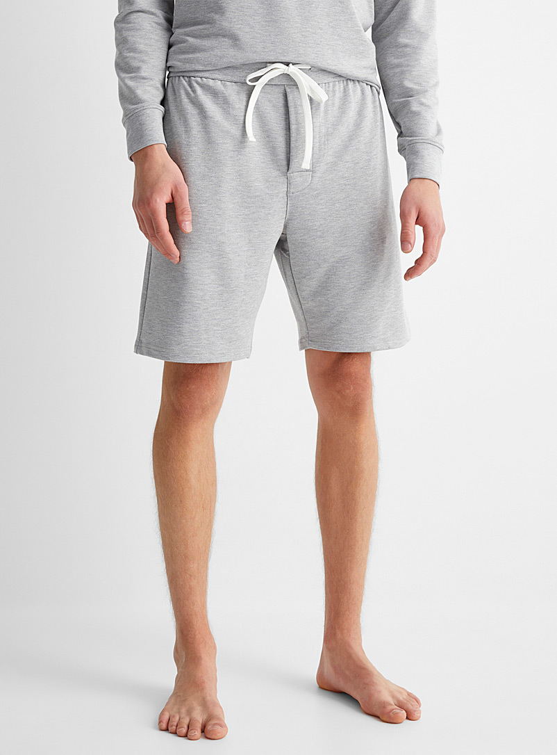 Le 31 Oxford Recycled polyester lounge Bermudas for men
