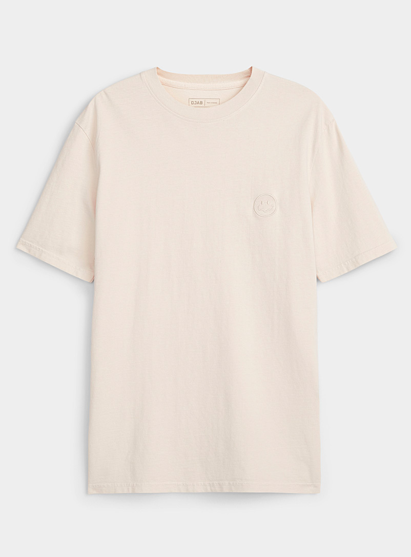 Djab Silver Faded woozy smile T-shirt for men