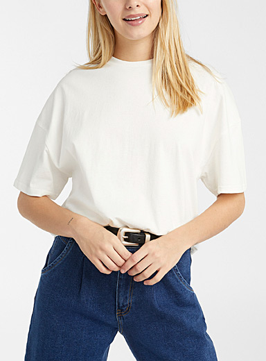 Recycled cotton boyfriend tee