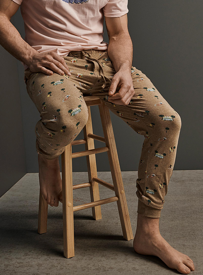 Tropical oasis lounge joggers