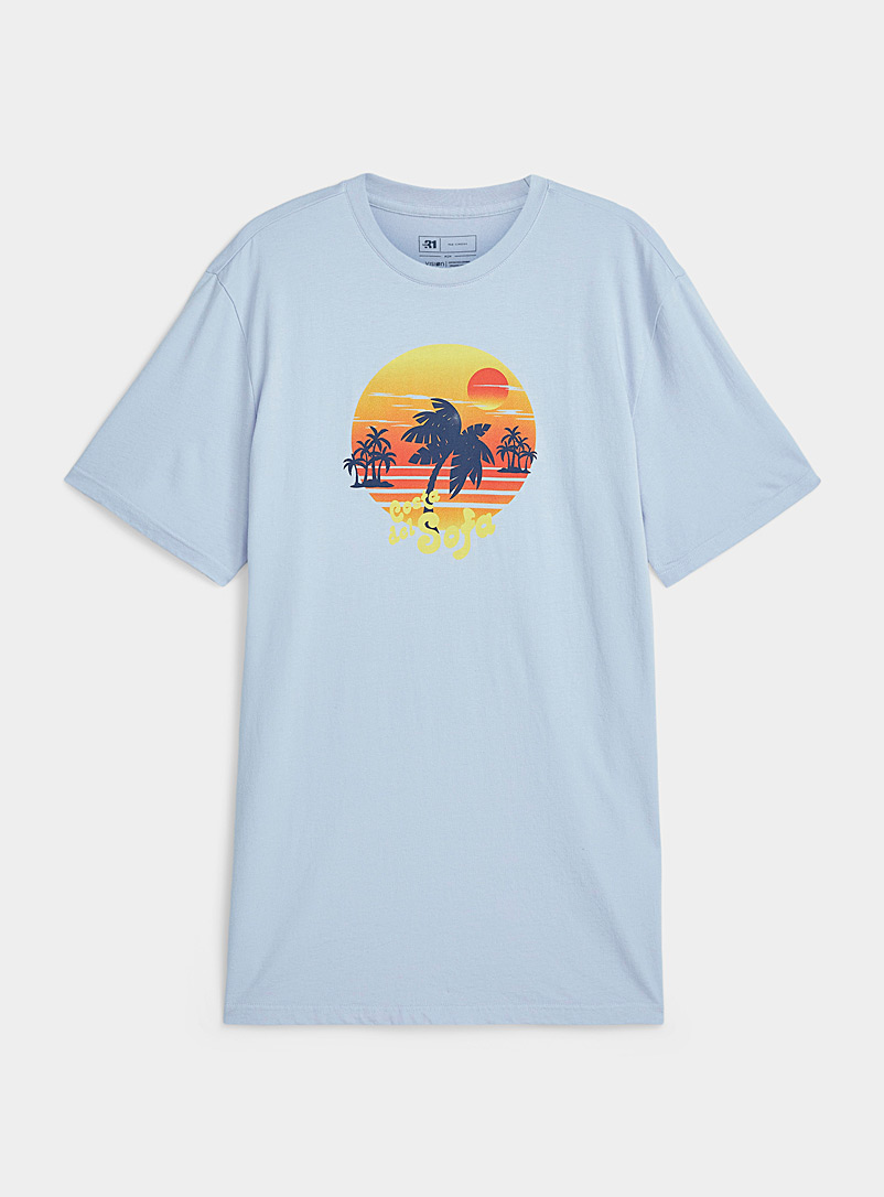 Le 31 Baby Blue Daydream lounge T-shirt for men