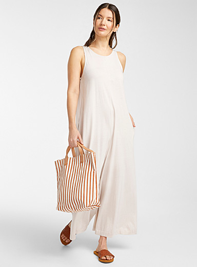 Organic cotton wide-leg jumpsuit