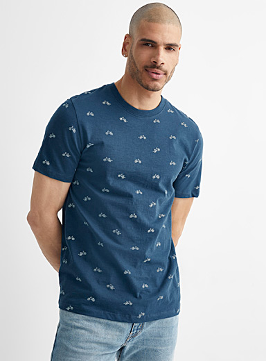 Mini pattern slub jersey T-shirt