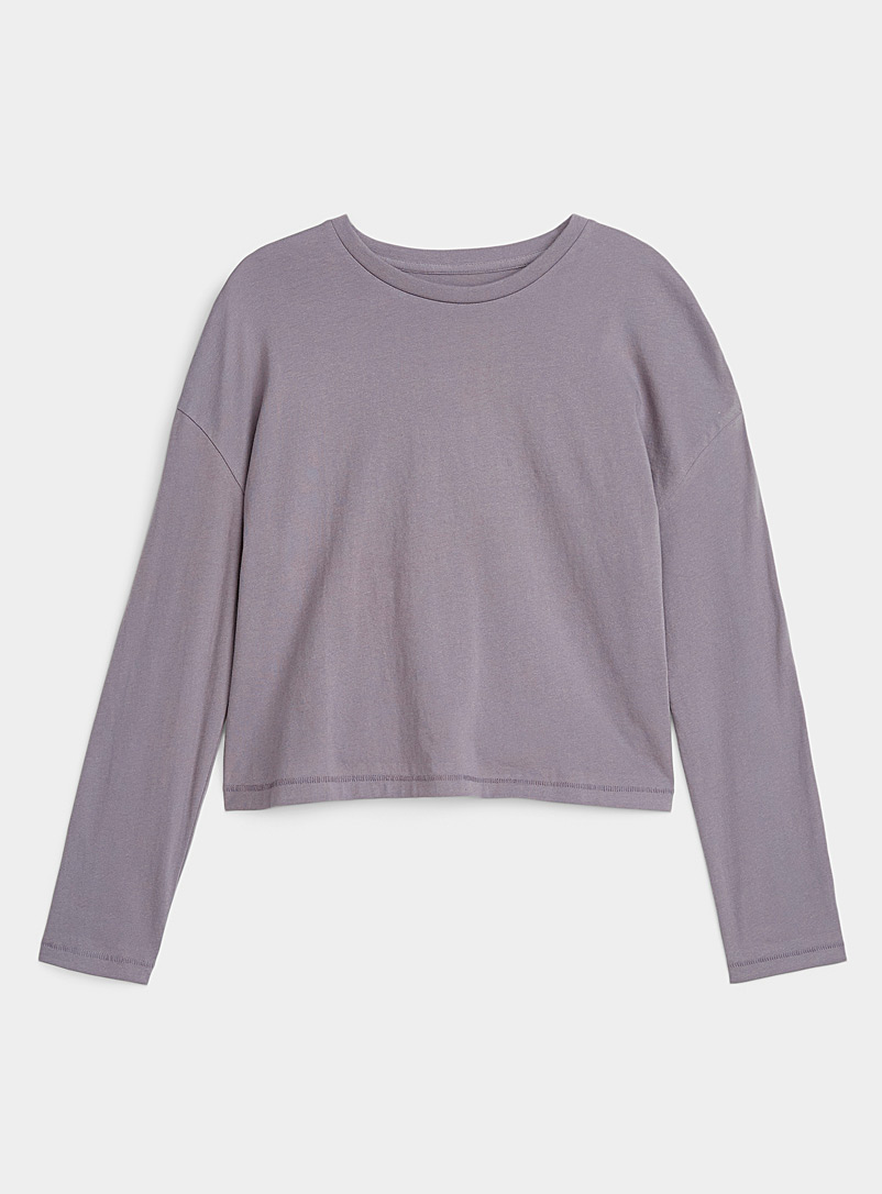 Miiyu x Twik Dark Grey Organic cotton long-sleeve T-shirt for women
