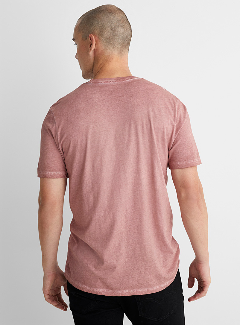 Le 31 Dusky Pink Oil-washed organic cotton T-shirt for men