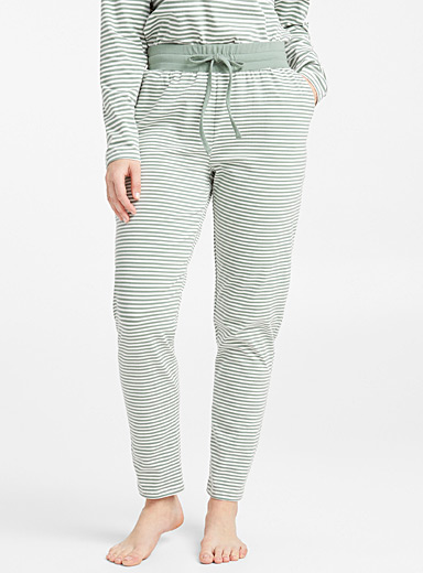 Striped organic cotton pant