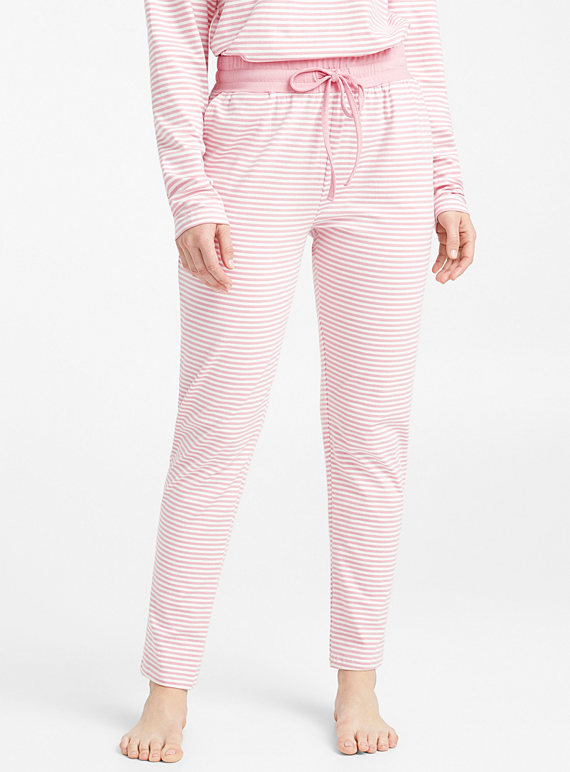 Striped organic cotton pant - Sleepwear & Leisurewear - Pink