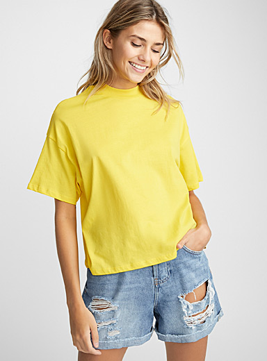 Organic cotton cropped boyfriend tee