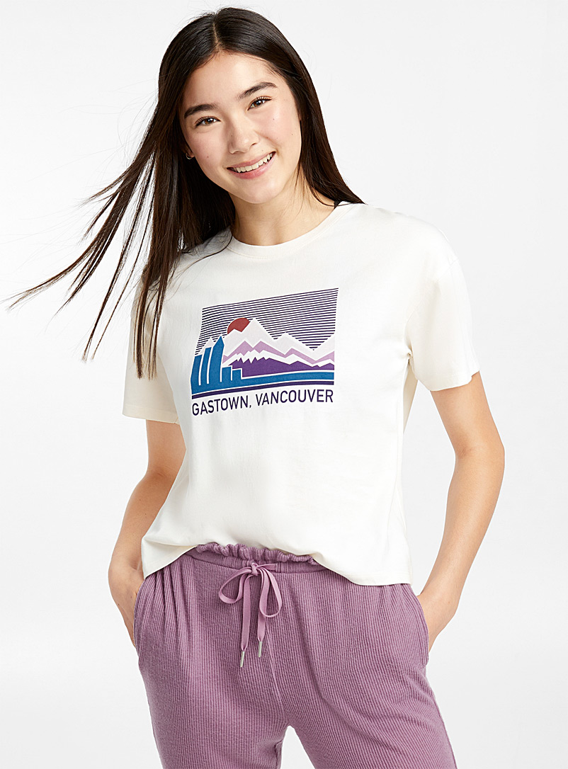 Trendy destination tee - Sleepwear & Leisurewear - Ivory White