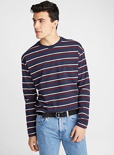 Preppy stripe boxy T-shirt