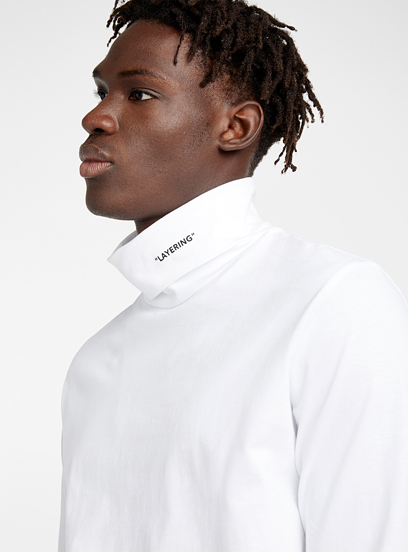 Self-reference organic cotton turtleneck - Long sleeves - White