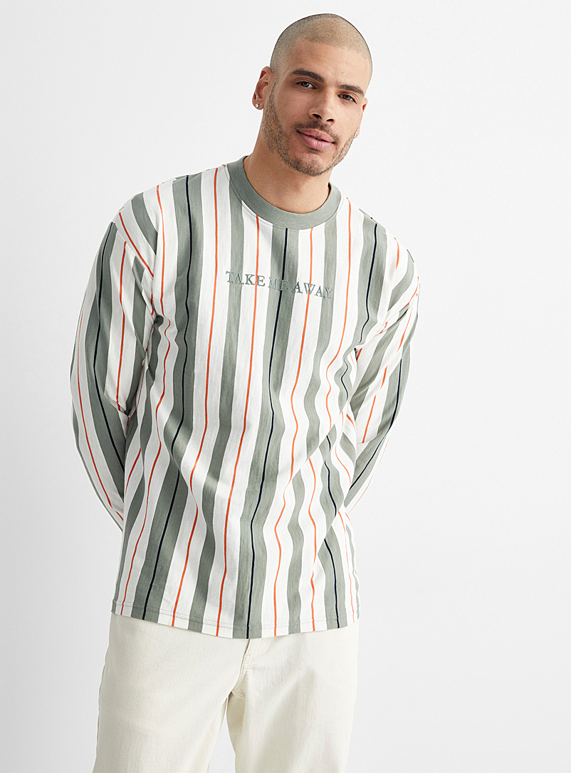 Le 31 Oxford Graphic vibes organic cotton T-shirt for men