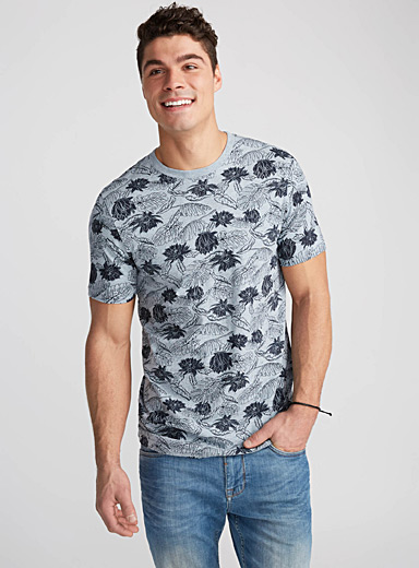 Tropical heather organic cotton T-shirt