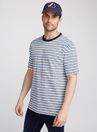 Organic cotton retro stripe T-shirt