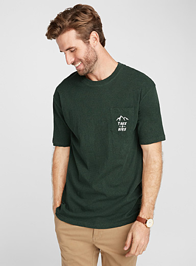 Message-pocket organic cotton T-shirt