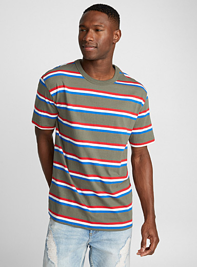 Retro stripe organic cotton T-shirt