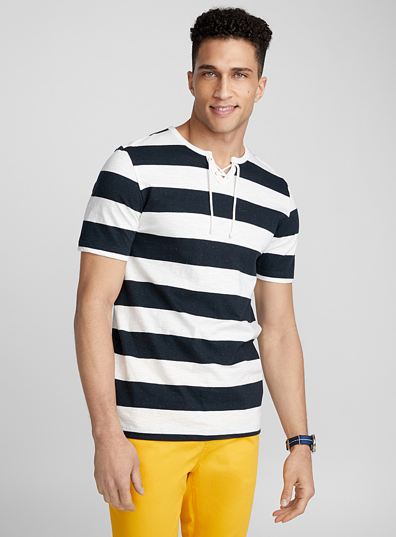 striped-laced-neck-t-shirt