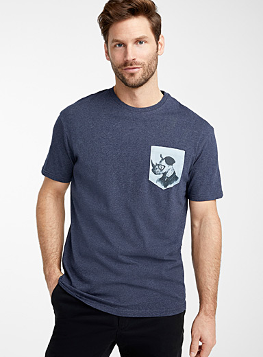 Expressive pocket organic cotton T-shirt
