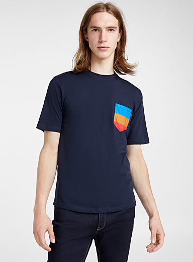 Accent-pocket organic cotton T-shirt