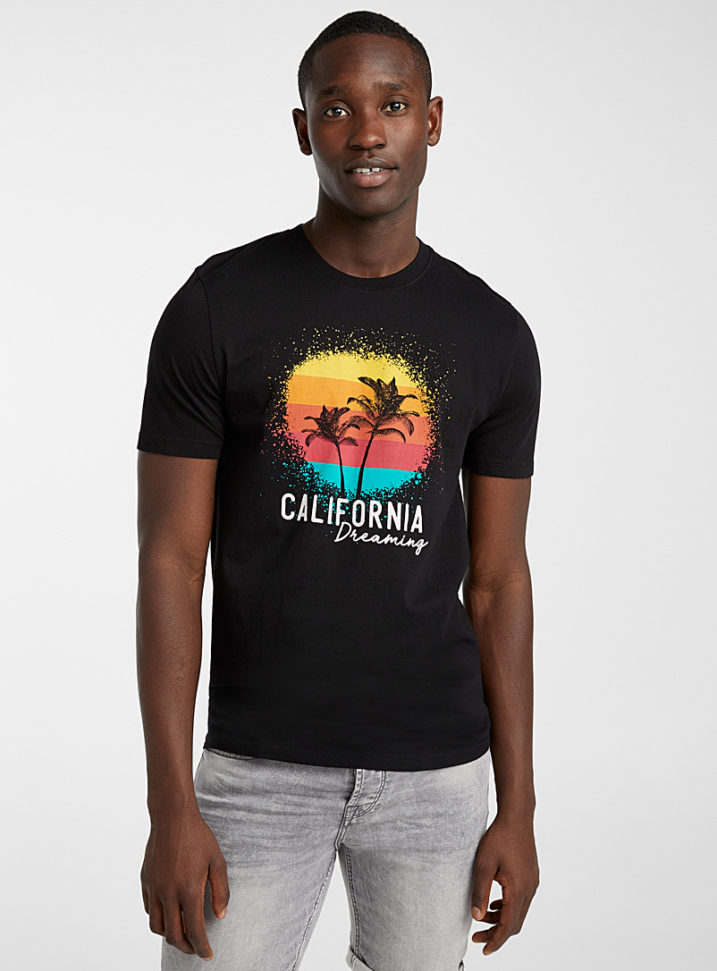 Le 31 Black In the tropics T-shirt for men
