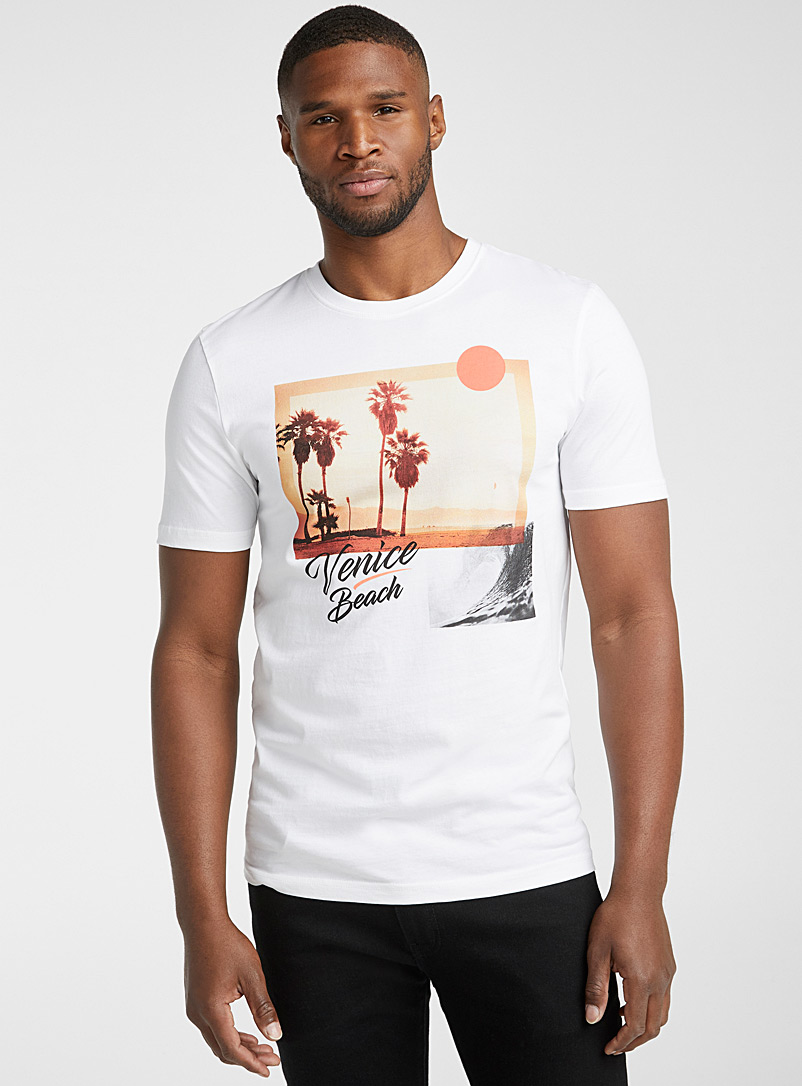 Le 31 White In the tropics T-shirt for men