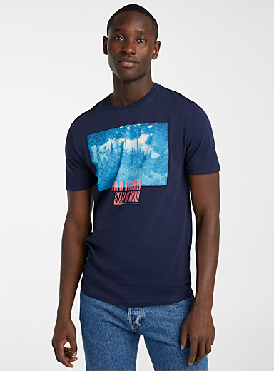 Le 31 Marine Blue In the tropics T-shirt for men