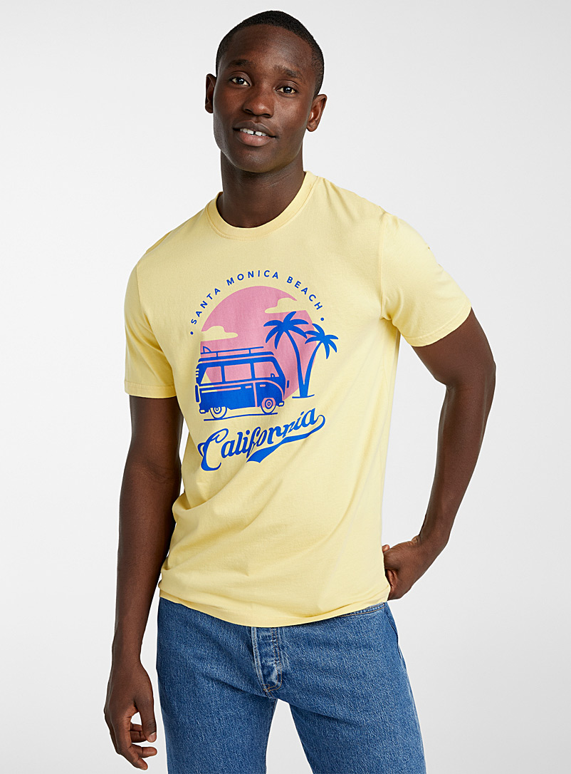 Le 31 Medium Yellow In the tropics T-shirt for men