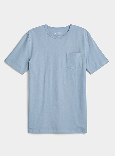 Recycled cotton pocket T-shirt