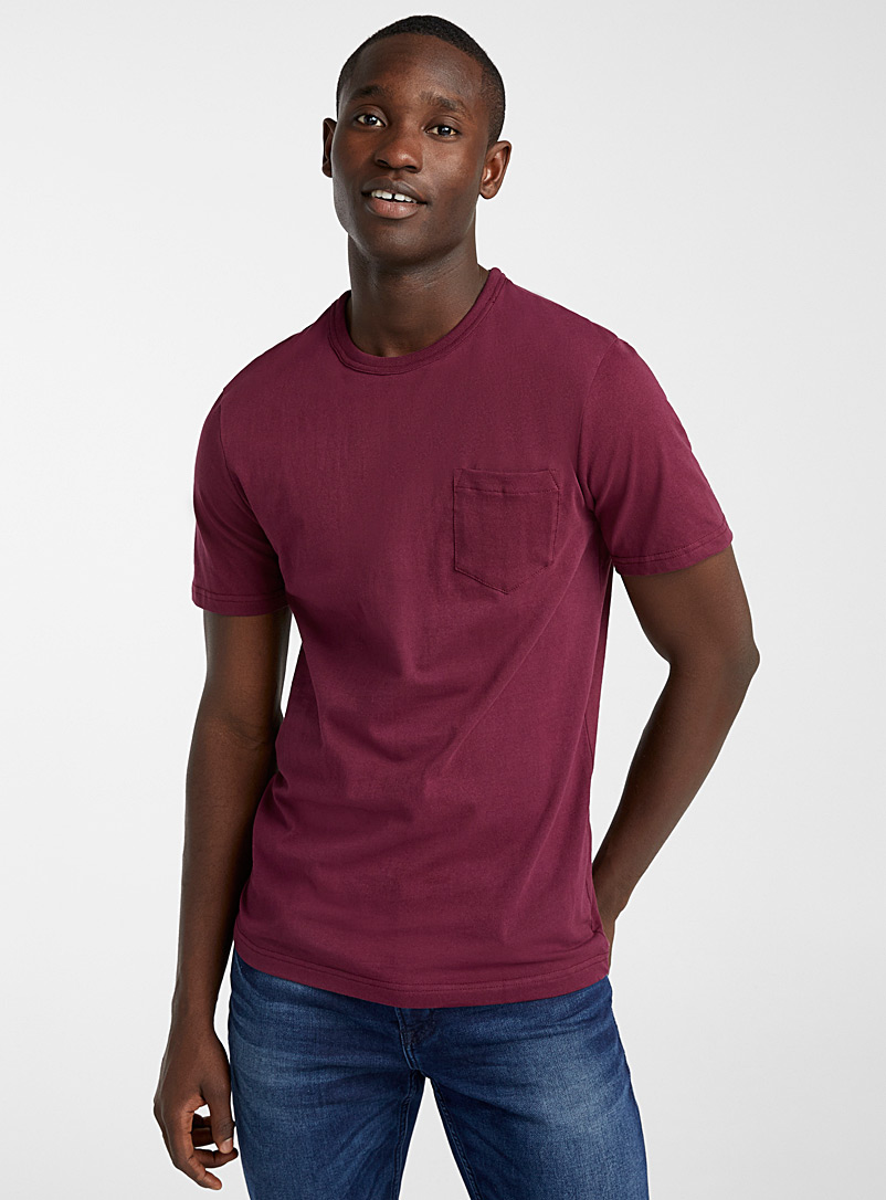 Le 31 Mauve Recycled cotton pocket T-shirt for men