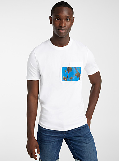 Exotic appliqué T-shirt