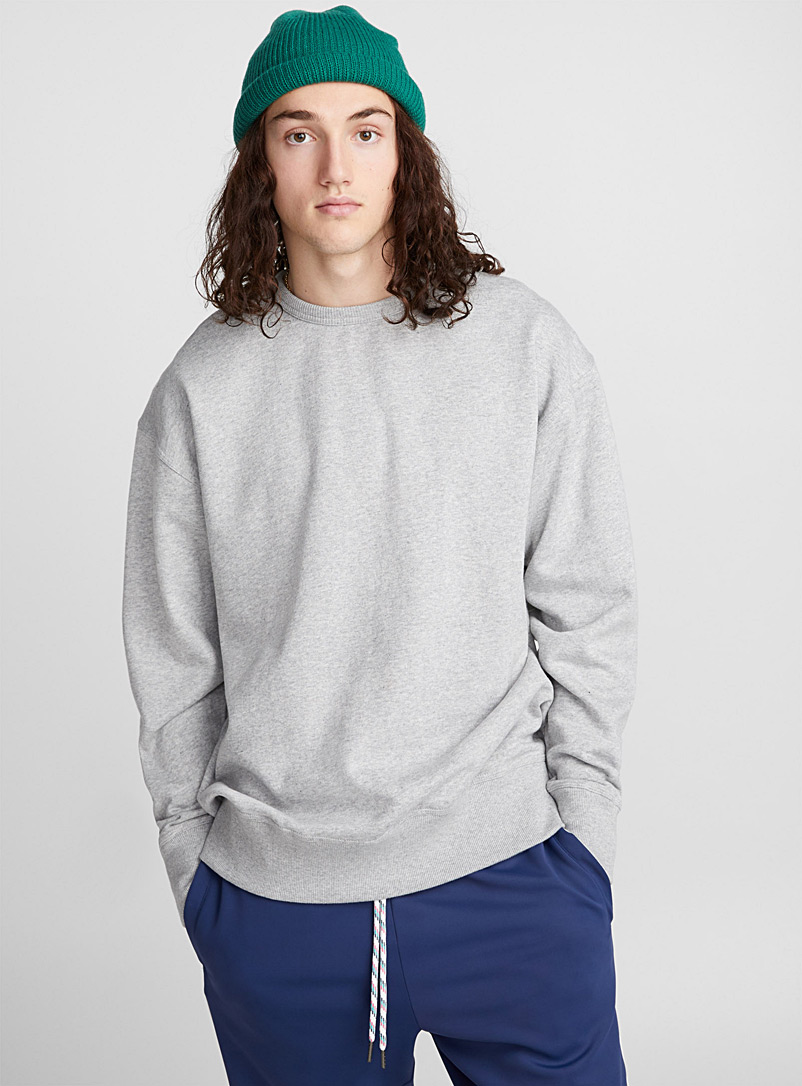 Loose organic cotton sweatshirt - Sweatshirts & Hoodies - Grey