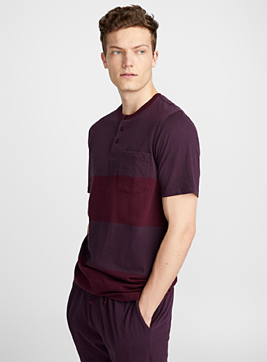 Blocks Henley lounge tee