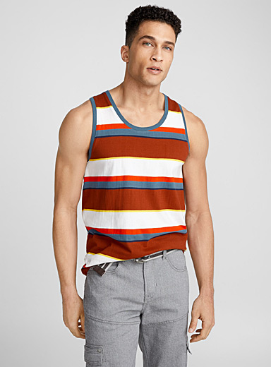 Summer stripe organic cotton tank