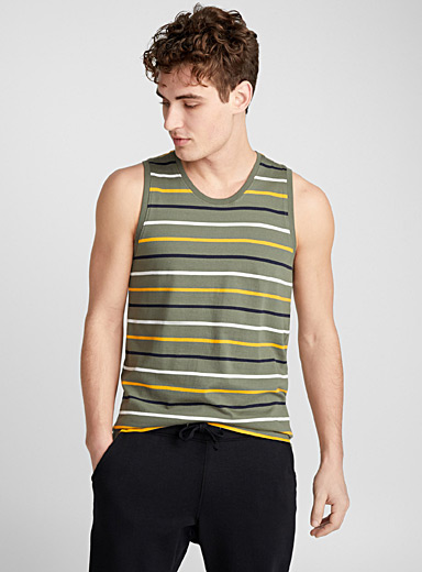 Colourful stripe organic cotton tank