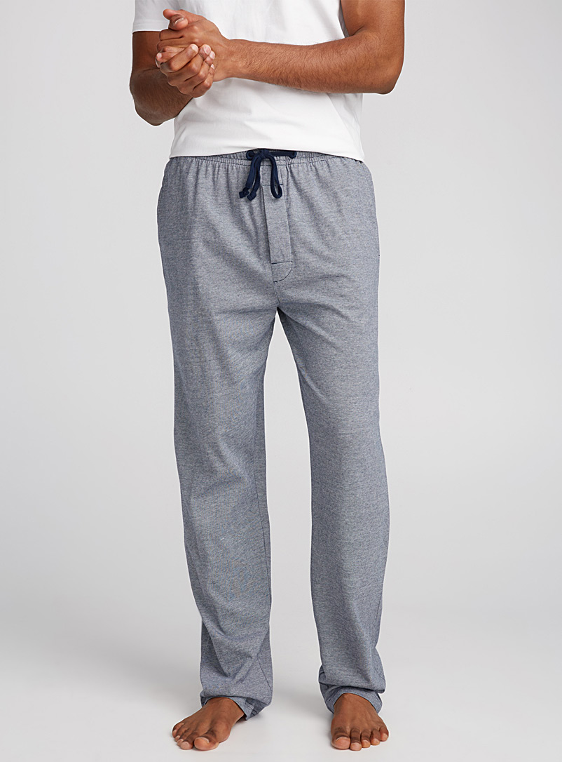 Heathered lounge pant - Sleepwear & Leisurewear - Dark Blue