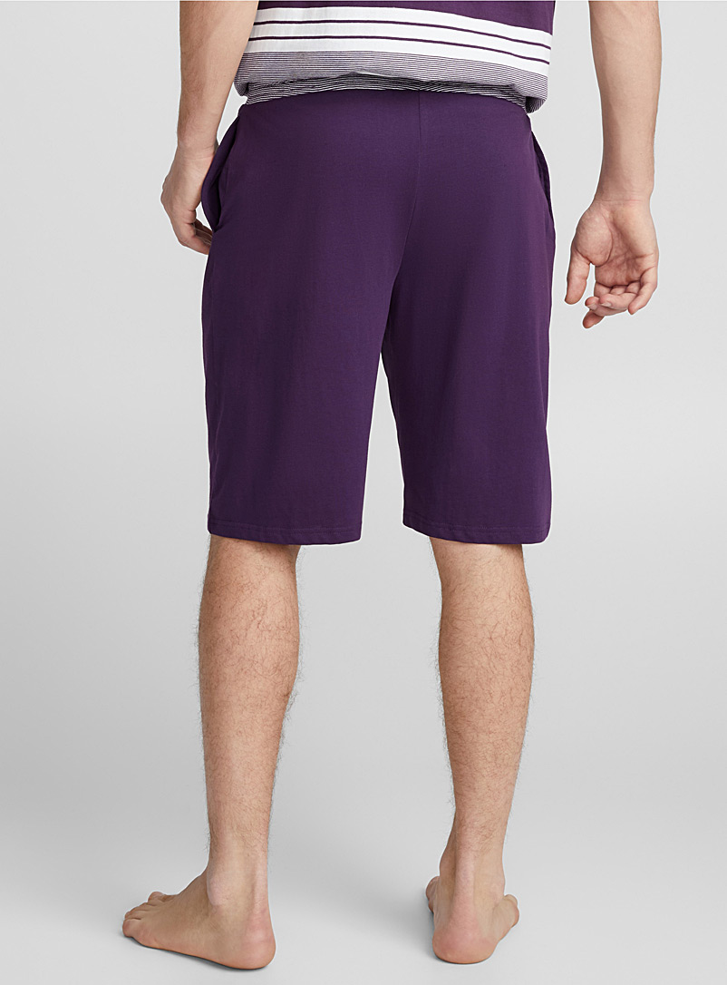 Jersey organic cotton lounge Bermudas - Sleepwear & Leisurewear - Crimson