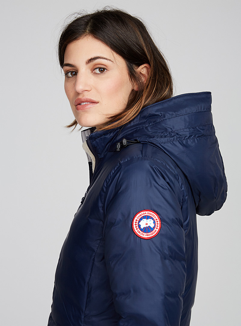 Camp hooded 3/4 jacket - Quilted and Down Jackets - Dark Blue