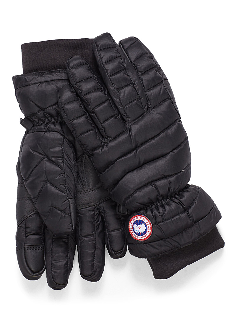 Light down quilted gloves - Gloves - Black