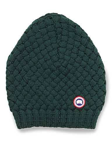 Merino basket knit tuque