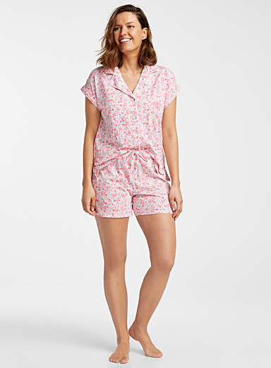 Flowering meadow trimmed pyjama set