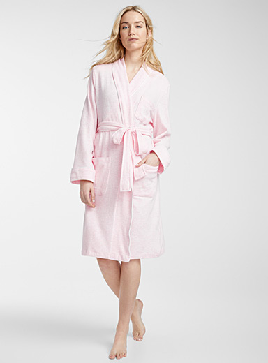 Light pink trimmed robe