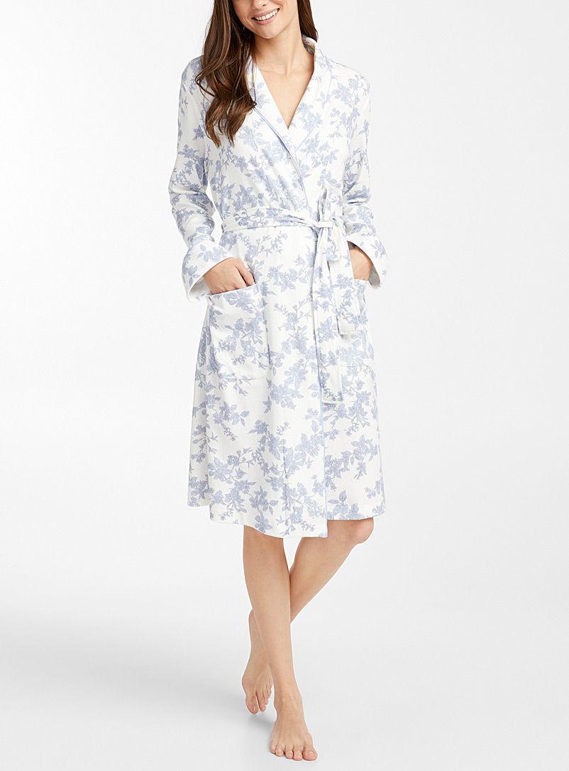 Pastel floral tapestry robe