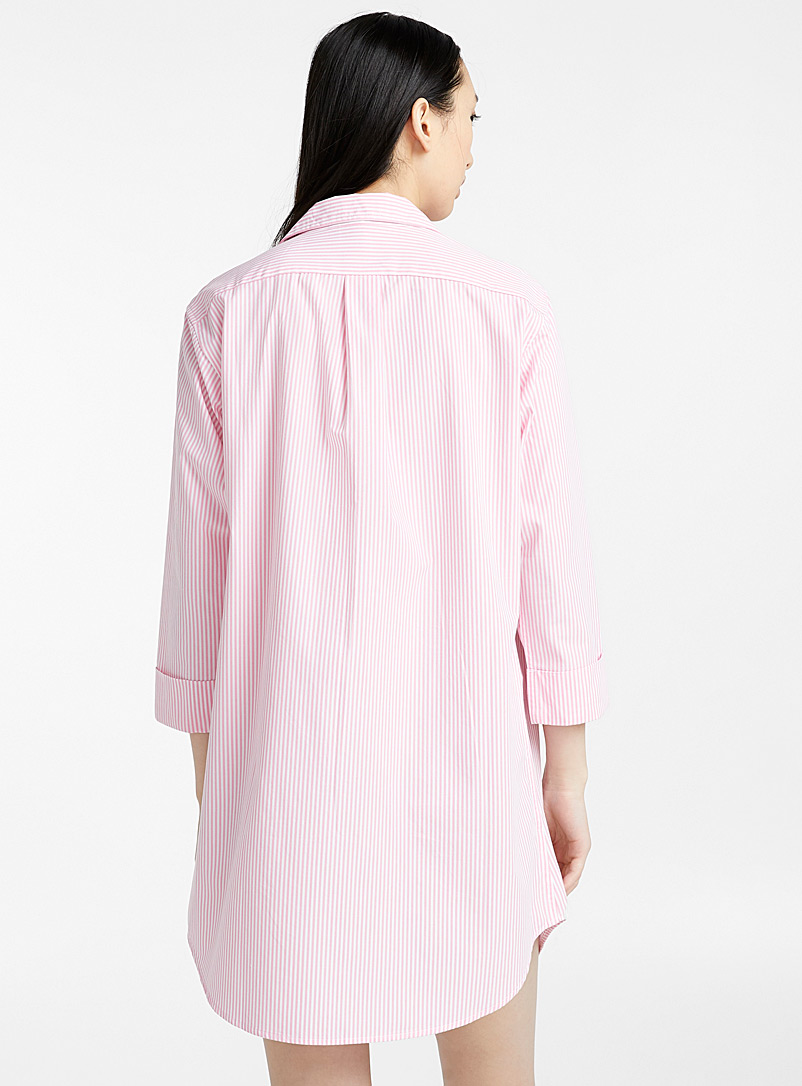 Lauren par Ralph Lauren Pink Pastel striped nightshirt for women