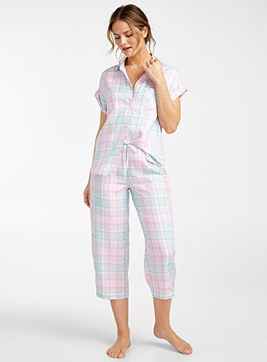Lauren par Ralph Lauren Assorted Pastel check pyjama set for women