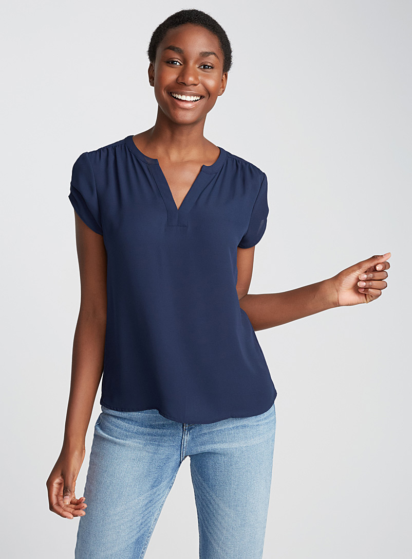 solid-mixed-media-v-neck-blouse
