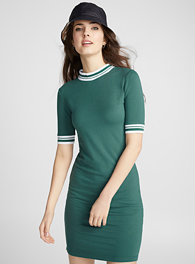 Sporty accent stripe dress