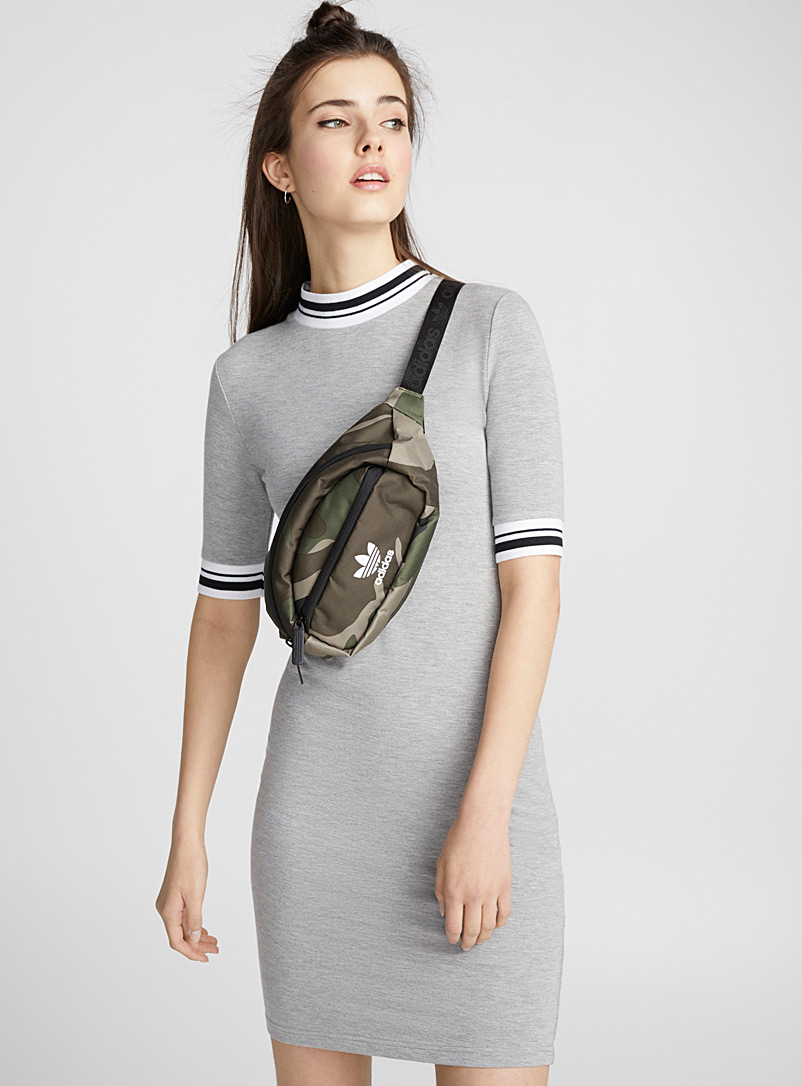 Sporty accent stripe dress - Bodycon - Grey