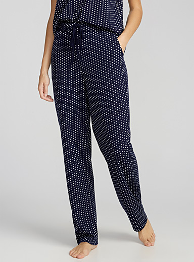 Double-faced dotted pant