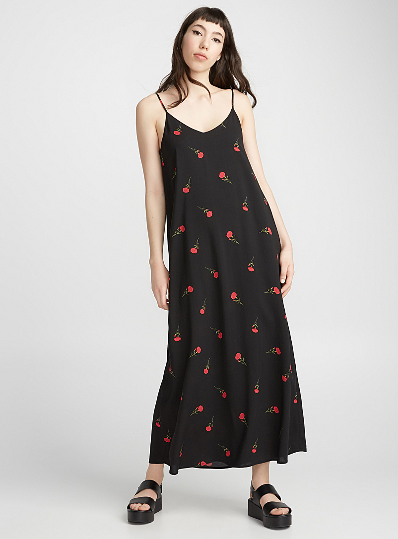 Mixed pattern maxi dress - Maxi - Patterned Black