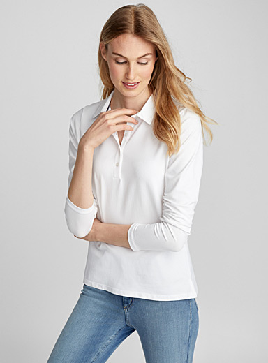 Le polo jersey manches longues